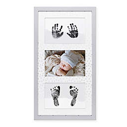 The Peanut Shell® 15.75-Inch x 8.5-Inch Hand and Foot Keepsake Frame in White