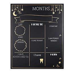 The PeanutShell™ Milestone Chalkboard in Black