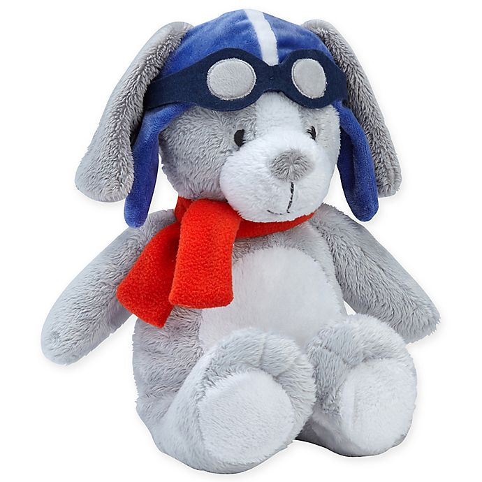 Alternate image 1 for carter's® Take Flight Plush Puppy in Grey