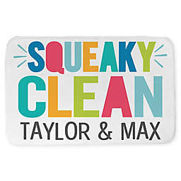"""Squeaky Clean"" 20"" x 32"" Bath Mat in White"