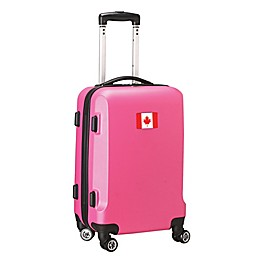 Denco Mojo Canada Flag 21-Inch Hardside Spinner Carry-On Luggage