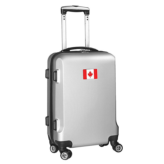 Alternate image 1 for Denco Mojo Canada Flag 21-Inch Hardside Spinner Carry-On Luggage in Silver
