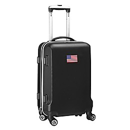 Denco Mojo USA Flag 21-Inch Hardside Spinner Carry-On Luggage