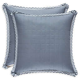 Piper & Wright Braylee Quilted Square Throw Pillow in Indigo
