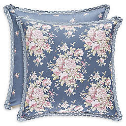 Piper & Wright Braylee Floral Square Throw Pillow in Indigo