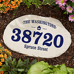 Home Address Garden Stone
