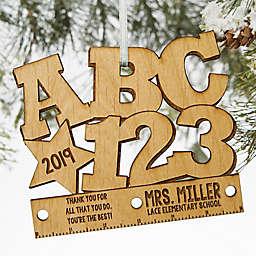 ABC & 123 Wood Teacher Ornament