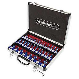 Stalwart® 35-Piece Router Bit Set in Black