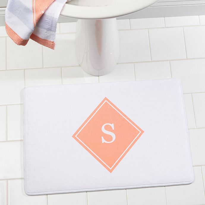 Alternate image 1 for Classic Initial Memory Foam Bath Mat