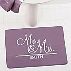 Wedded Pair Memory Foam Bath Mat
