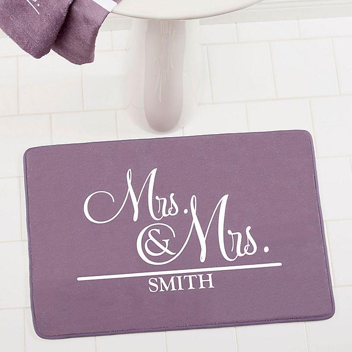 Alternate image 1 for Wedded Pair Memory Foam Bath Mat