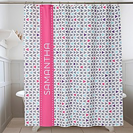Geometric Personalized Shower Curtain