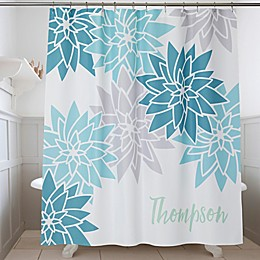 Mod Floral Personalized Shower Curtain