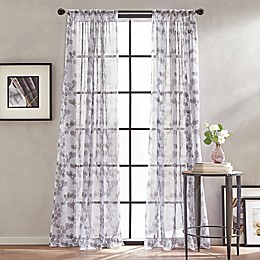 Peri Home Kelly Floral Sheer Rod Pocket Window Curtain Panel