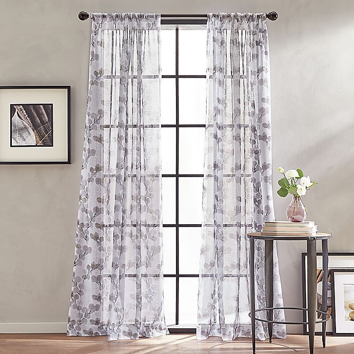 Alternate image 1 for Peri Home Kelly Floral Sheer Rod Pocket Window Curtain Panel