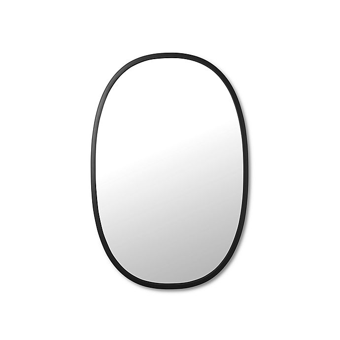 Alternate image 1 for Umbra® 24-Inch x 36-Inch Hub Oval Wall Mirror in Black