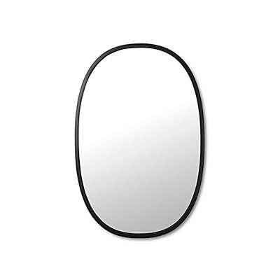 Umbra® 24-Inch x 36-Inch Hub Oval Mirror in Black
