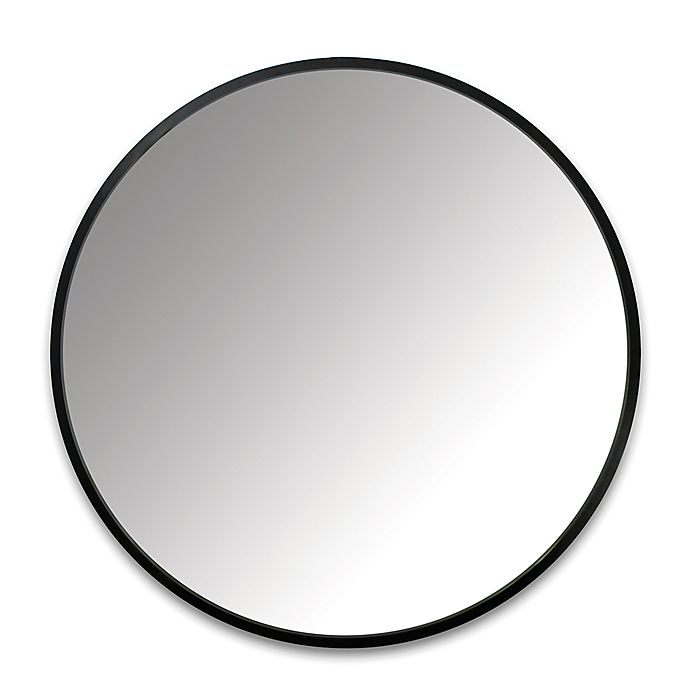 Alternate image 1 for Umbra® 37-Inch Hub Round Wall Mirror in Black