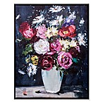 Zhejiang Wadou Vibrant Floral Wall Art in Navy