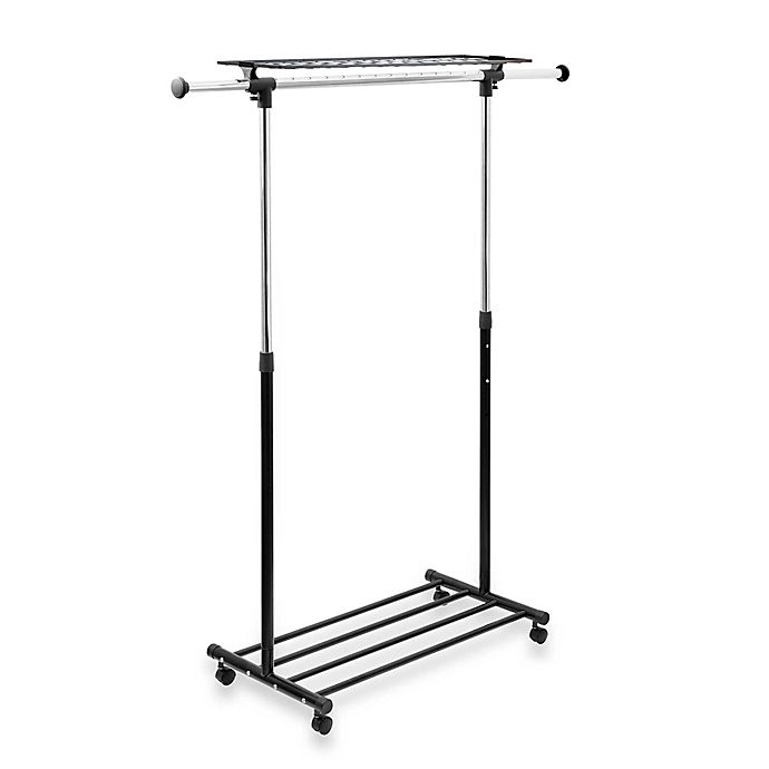 Alternate image 1 for Heavy Duty Chrome Portable & Adjustable Garment Rack