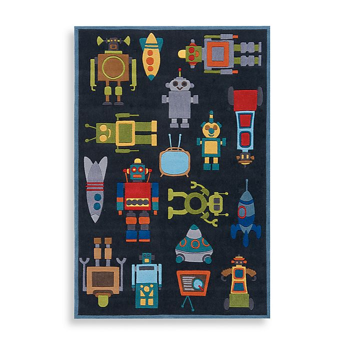 Alternate image 1 for Momeni 'Lil Mo Whimsy LMJ-1 Area Rug in Steel Blue