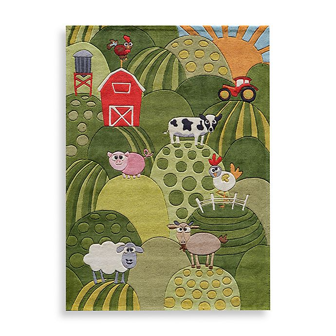 Momeni Lil Mo Whimsy Lmj 11 Area Rug In Grass Bed Bath Beyond