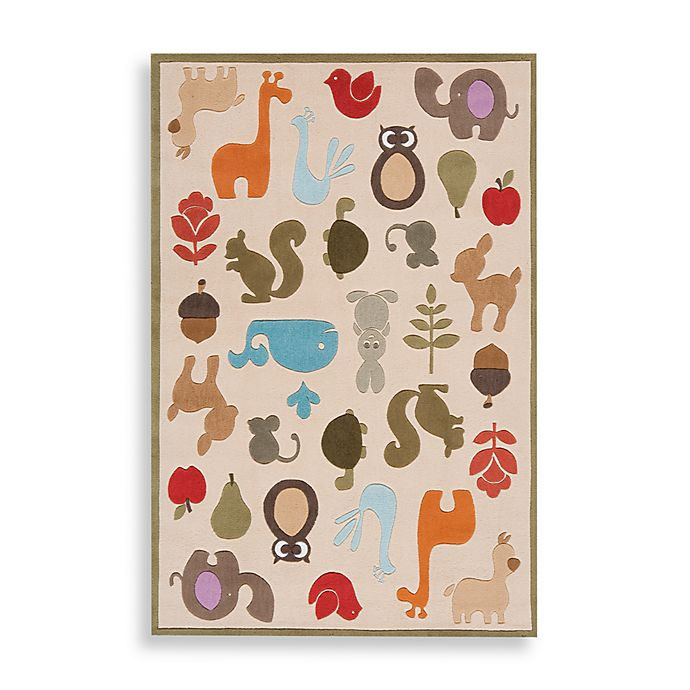 Alternate image 1 for Momeni 'Lil Mo Whimsy LMJ-2 Area Rug in Ivory