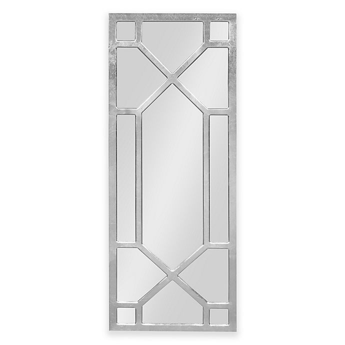 Alternate image 1 for Kate and Laurel Vanderford 47.25-Inch x 18-Inch Rectangular Wall Mirror in Silver