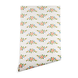 Deny Designs Florent Bodart Kitsch Pattern Peel and Stick Wallpaper in Beige
