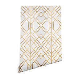 Deny Designs Elisabeth Fredriksson Golden Geo Wallpaper 2-Foot x 8-Foot Peel and Stick Wallpaper
