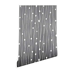 Deny Designs Heather Dutton Entangled Wallpaper 2-Foot x 8-Foot Peel and Stick Wallpaper in Grey