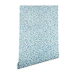 Deny Designs Ninola Design Baby Bubbles Circles Peel and Stick Wallpaper in Blue