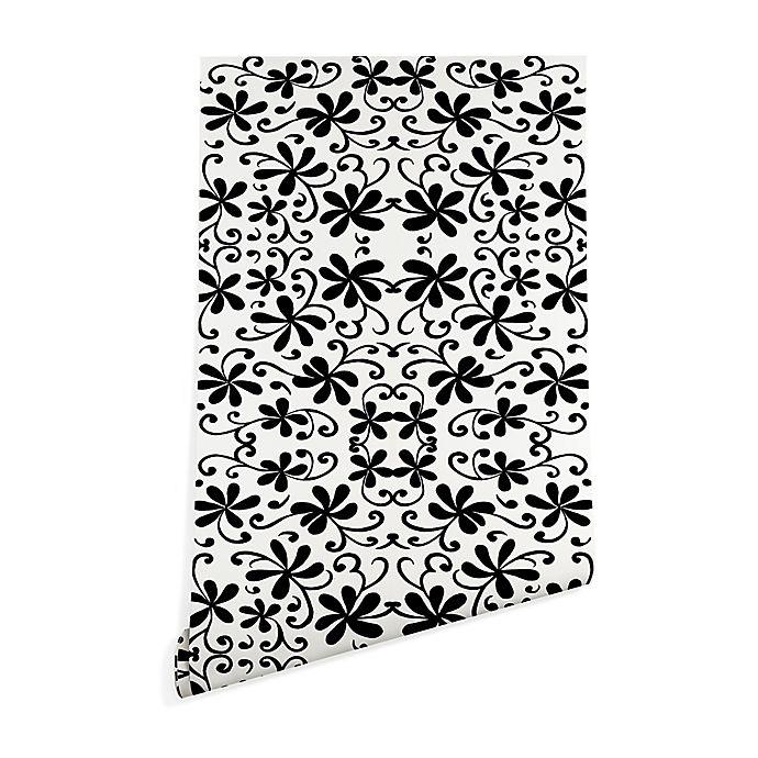 Alternate image 1 for Deny Designs Rosie Brown Black on White 2-Foot x 10-Foot Wallpaper in Black