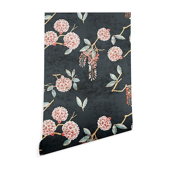 Alternate image 1 for Deny Designs Holli Zollinger Floralista Peel and Stick Wallpaper in Black