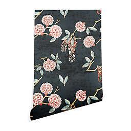 Deny Designs Holli Zollinger Floralista 2-Foot x 4-Foot Peek and Stick Wallpaper in Black
