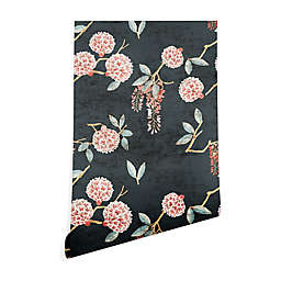 Deny Designs Holli Zollinger Floralista 2-Foot x 10-Foot Peel and Stick Wallpaper in Black
