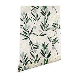 Deny Designs Holli Zollinger Olive Bloom Peel & Stick Wallpaper