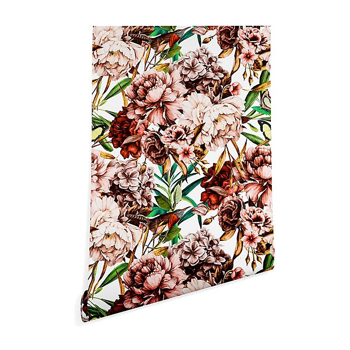 Alternate image 1 for Deny Designs Marta Barragan Camarasa Vintage Flowers 2-Foot x 4-Foot Wallpaper in Pink