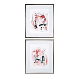 Uttermost Soft Speak 26-Inch x 30-Inch Framed Abstract Prints (Set of 2)