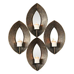 Uttermost Nina 4-Candle Wall Sconce in Antique Bronze