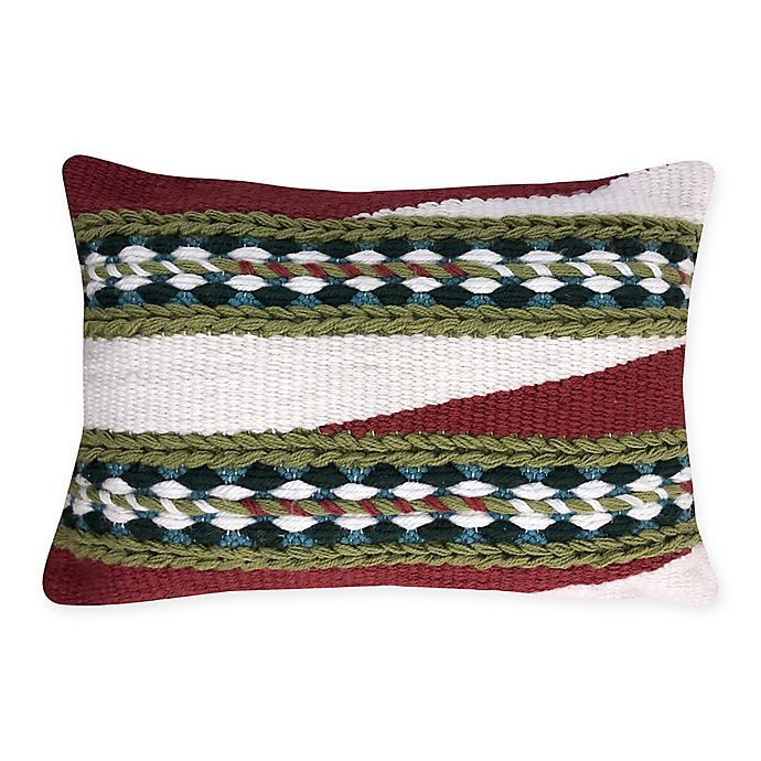 Alternate image 1 for Destination Summer Spicy Woven Oblong Indoor/Outdoor Throw Pillow