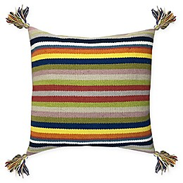 Destination Summer Venice Woven Striped Square Indoor/Outdoor Throw Pillow
