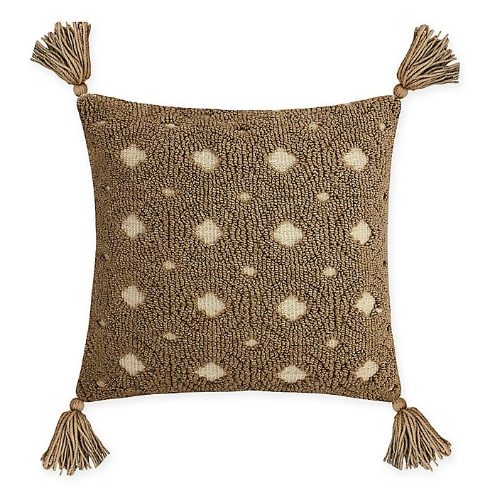 Alternate image 1 for Destination Summer Neutral Jacquard Square Indoor/Outdoor Throw Pillow