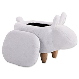 Furnite Style Faux Fur Bunny Storage Ottoman