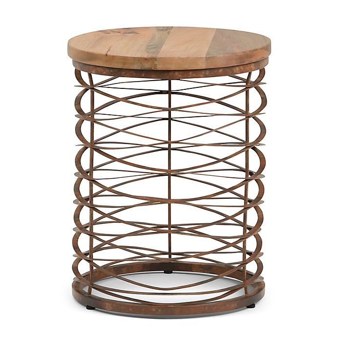 Alternate image 1 for Simpli Home Miley Wood & Metal Accent Table