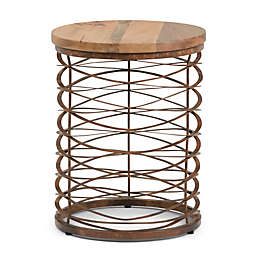 Simpli Home Miley Wood & Metal Accent Table