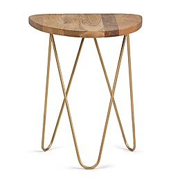 Simpli Home Patrice Metal and Wood Accent Table