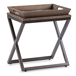 Simpli Home Damien Narrow Side Table in Natural
