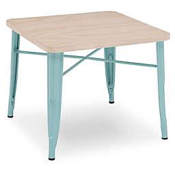 Delta Children Bistro Kids Play Table in Driftwood/Eggshell Aqua