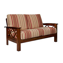 Handy Living® Upholstered Firm Loveseat in Red